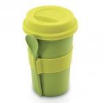 Кофейная кружка с ложкой,  Berghoff (2800055), зеленый цвет